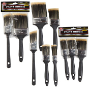 "SAVE 50%+ ON PAINT SUPPLIES! BUY 3 High Quality Paint Brushes for the price of 1! Washable & Reusable. Sizes Include: 1"", 1-1/2"" & 2"" Paint Brushes."