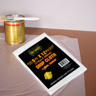 SAVE 50% ON PAINT SUPPLIES! PROTECT FLOORS & FURNITURE with commercial grade light weight Professional Painter's plastic cover. ORDER TODAY!