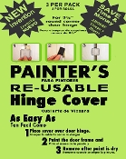 FREE SHIPPING Painters ORIGINAL RE-USABLE Masking Magnetic Door Hinge Cover. NO MORE Hinge Taping, Re-Taping, Door Removal, Damage, Injuries, Chemicals!Apply covers in 30 seconds! WE SHIP SAME DAY!