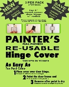 SAVE OVER 80% no more hinge taping no door removal NEW PAINTERS ORIGINAL RE-USABLE Door Hinge Cover FREE SAME DAY SHIPPING